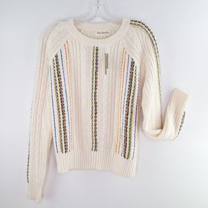New THE REEDS J Crew Cable Knit Sweater Size Small